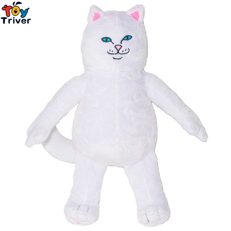 40cm Plush Lord Cat Toy Stuffed Cat Green Alien Doll Kawaii Birthday Gift Street Style Triver new arrival tamino maita scratch cat plush toy stuffed cool unhappy kitty black white gray color 40cm 50cm freeshipping gift