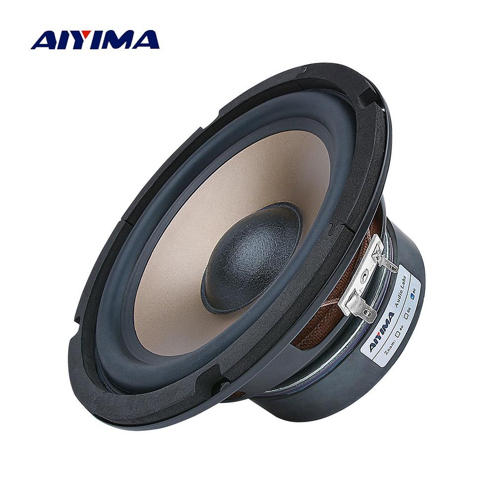 AIYIMA 6,5 дюймов сабвуфер аудио динамик 80 Вт 4 8 Ом Высокая мощность Fever Woofer музыкальный громкоговоритель сделай сам для книжной полки звуковая с