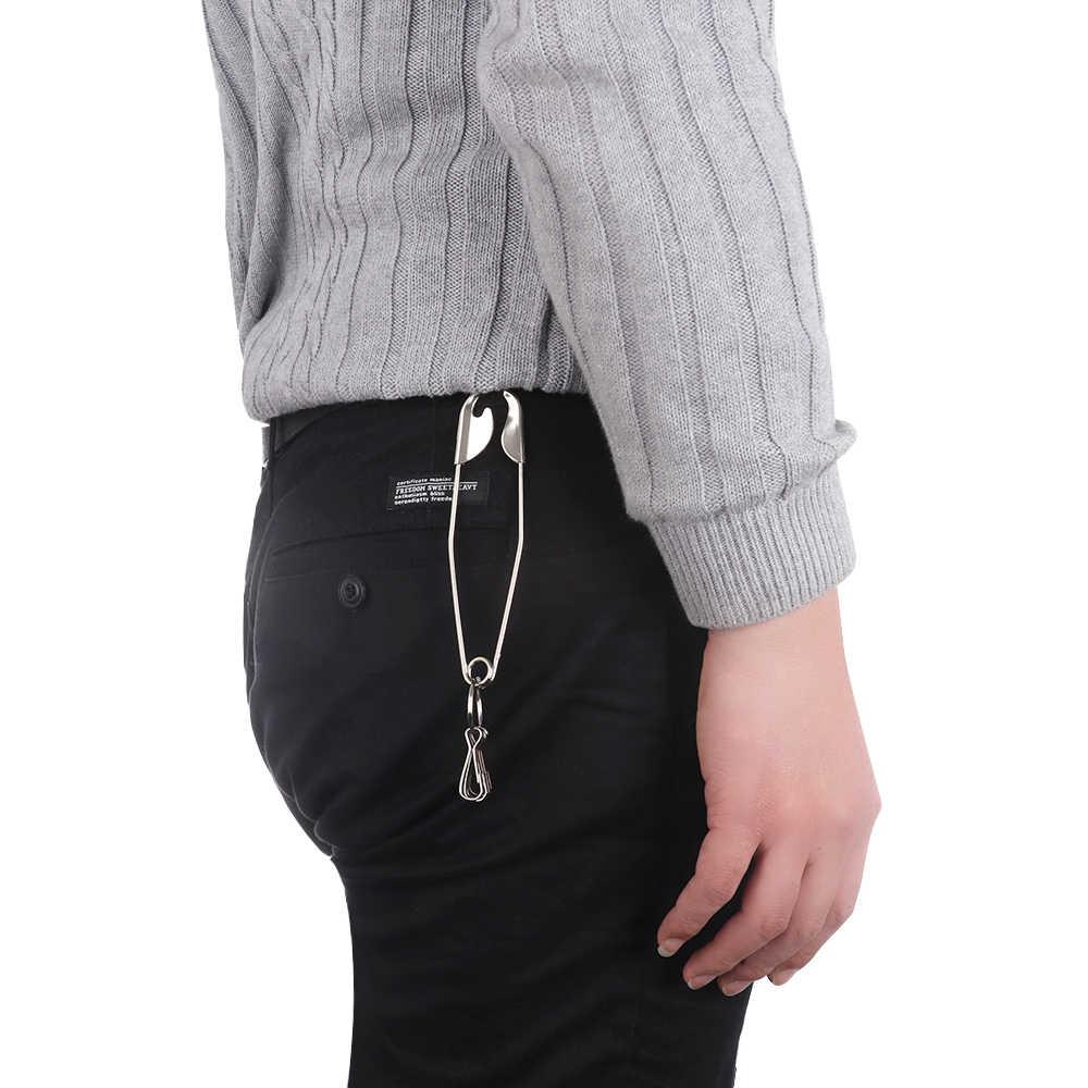 1 pieza Punk plata Pin anillo Clip billetera cinturón cadena Rock pantalones Hipster llavero Metal llavero accesorios Unisex joyería