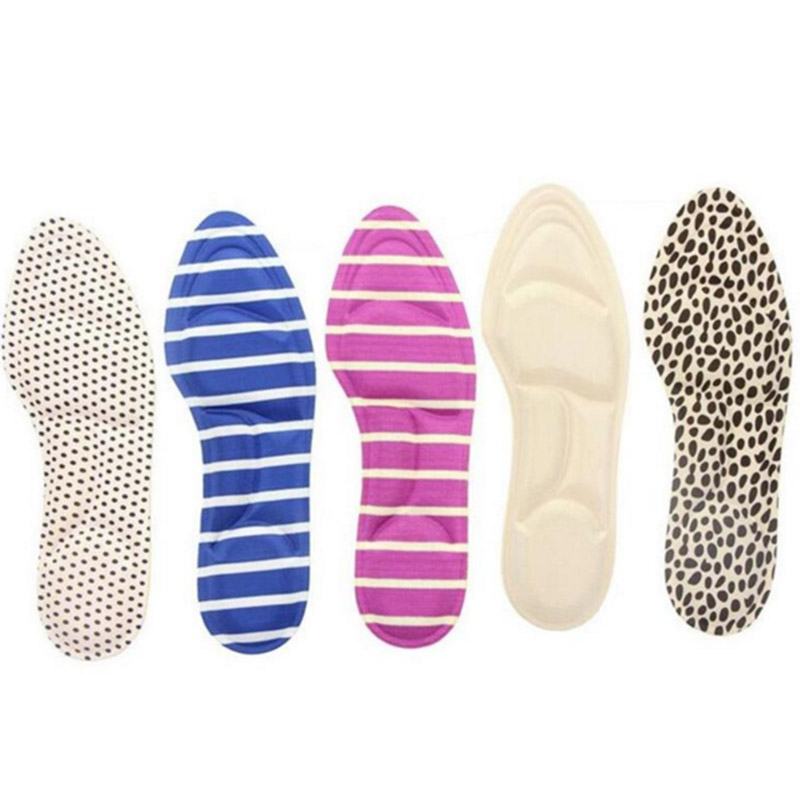 30 Pairs Women High Heels Sponge 3D Shoe Insoles Cushions Pads DIY Cutting Sport Arch Support Orthotic Feet Care Massage 2 pairs lot gel massage 3 4 insoles women high heel insoles plantillas de calzado orthopedic insoles arch support feet care