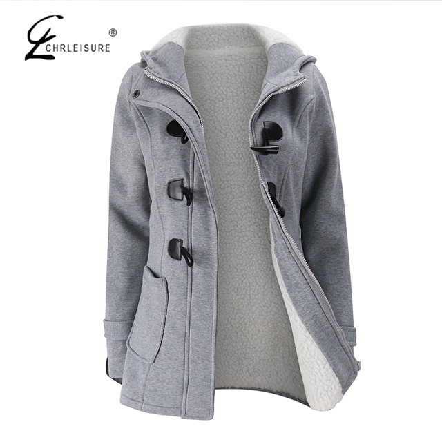 e2c1491301e CHRLEISURE S-5XL Plus Size Warm Winter Coat Women Jacket Thick Faux  Cashmere Coats Fashion Hoodies Button Jackets 6 Colors