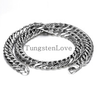 Durable 12mm Wide Heavy Large Big Men Stainless Steel Necklace Chunky Link Chain 24 Inch Colour