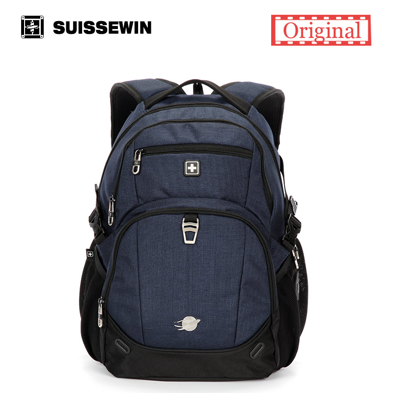 цена на Suissewin swiss Brand Male Backpack School Waterproof Women Laptop Travel Backpack Bagpack Back Bag Black white sac a dos SN8043
