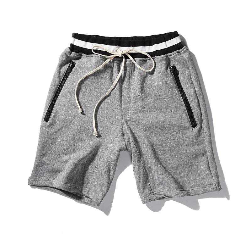 High quality 2017 Fashion sweat Shorts Casual Joggers summer men women HIPHOP zipper shorts Justin bieber