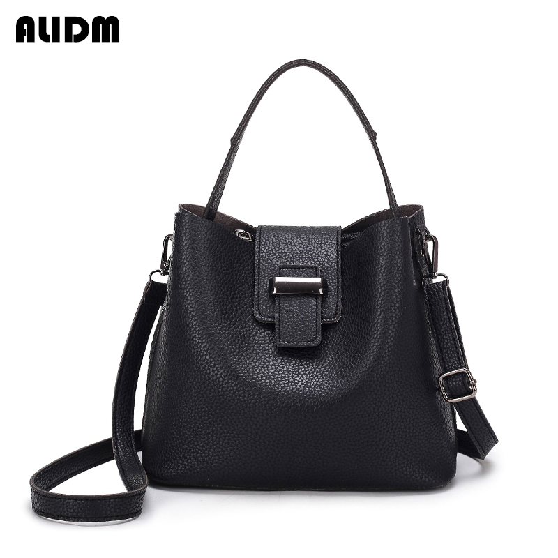 High Quality Ultra Thin Pu Leather Women Bags Famous Brand Tote Solid Handbags Simple Messenge Bag Fashion New Arrivals ...
