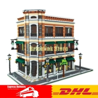 2017 New LEPIN 15017 4616Pcs Starbucks Bookstore Cafe Model Building Kits Blocks Bricks Compatible Toys Gift