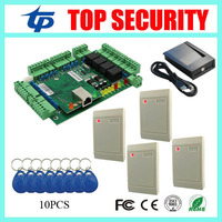 4 doors access control board TCP/IP communication door control system with time attendance function smart card time attendance