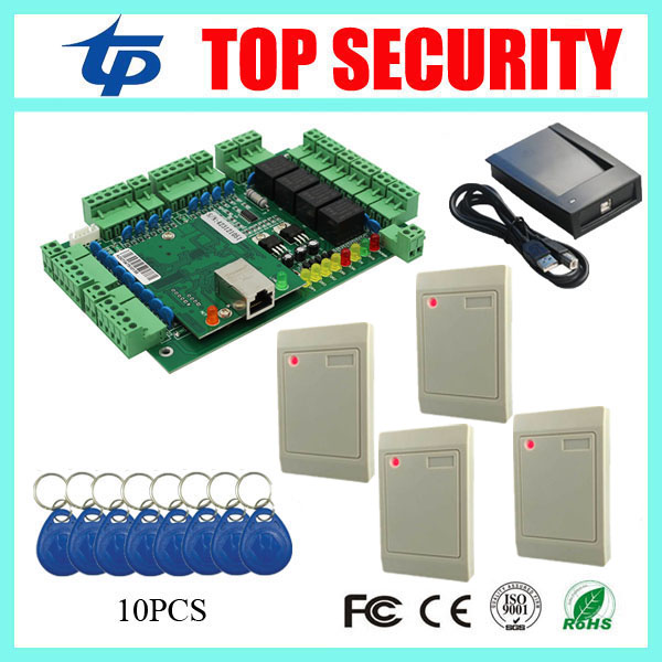 4 doors access control board TCP/IP communication door control system with time attendance function smart card time attendance zk multibio700 face access controller tcp ip usb face and fingerprint time attendance and door security access control system