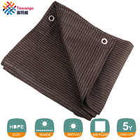 Tewango Brown Coffee Sun Shade Sail UV Block Fabric Canopy Square for Patio Garden Customized Sizes Available 5 Years