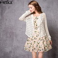 Artka Women's 2017 Spring Vintage Thin Hollow Out Cardigan Fashion White Long Sleeve Comfy All-match Cardigan WB10270C