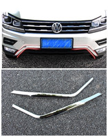 For 2017 2018 Volkswagen VW Tiguan Mk2 ABS Front Bottom Bumper Molding Racing Grill Trim Accessories