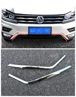 For 2017 2018 Volkswagen VW Tiguan Mk2 ABS Front Bottom Bumper Molding Racing Grill Trim Accessories
