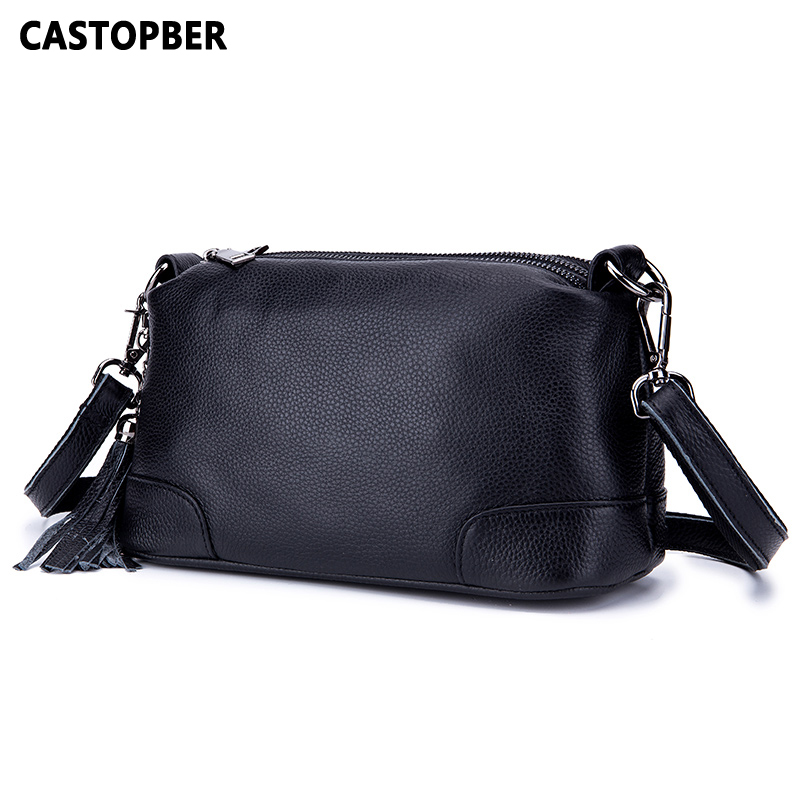 Women Handbag Large Capacity Tassel Crossbody Cow Genuine Leather Fashion 3 Zipper Bags Messenger Shoulder Ladies High Quality women pu leather messenger bag satchel ladies fashion crossbody shoulder bags high quality women s handbag large capacity totes