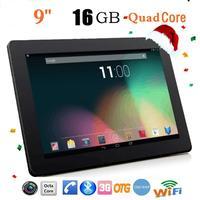 9 ''HD QUAD CORE 16 GB Dual המצלמה WIFI 3 גרם DE12 מסך מגע Tablet PC אנדרואיד 4.4 Phablet זרוק משלוח