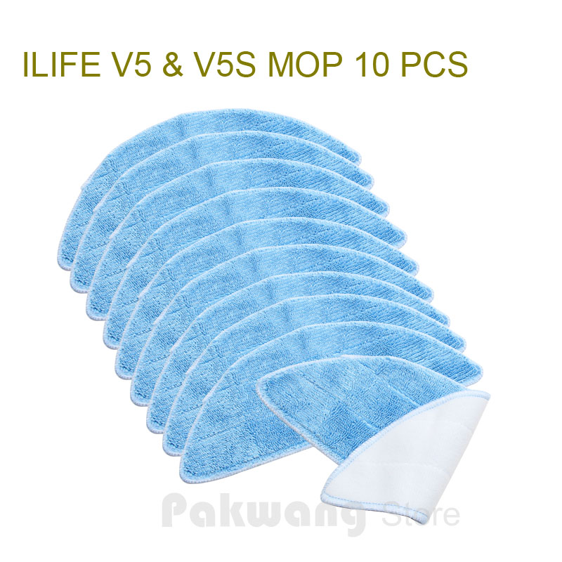 цена на Original ILIFE V5 V5S Mop 10 pcs, ILIFE Robot Vacuum Cleaner Spare Parts From Factory