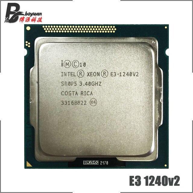 인텔 제온 E3 1240 v2 E3 1240v2 E3 1240 v2 3.4 GHz 쿼드 코어 CPU 프로세서 8M 69W LGA 1155