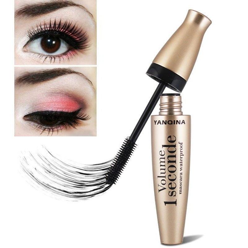 YANQINA Black Eye Mascara Long Eyelash Silicone Brush Curving Lengthening Mascara Waterproof Makeup New   @ME88