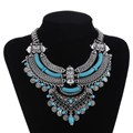 2017 Fashion Bohemian Jewelry Gypsy Ethnic Choker Collar Vintage Maxi Statement Necklaces & Pendants Collier Necklace Women