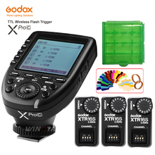 цена Godox XPro-C Flash Trigger Transmitter E-TTL II 2.4G Wireless X System HSS+3 pcs XTR-16S Receiver for Canon For VING V860C V850C онлайн в 2017 году