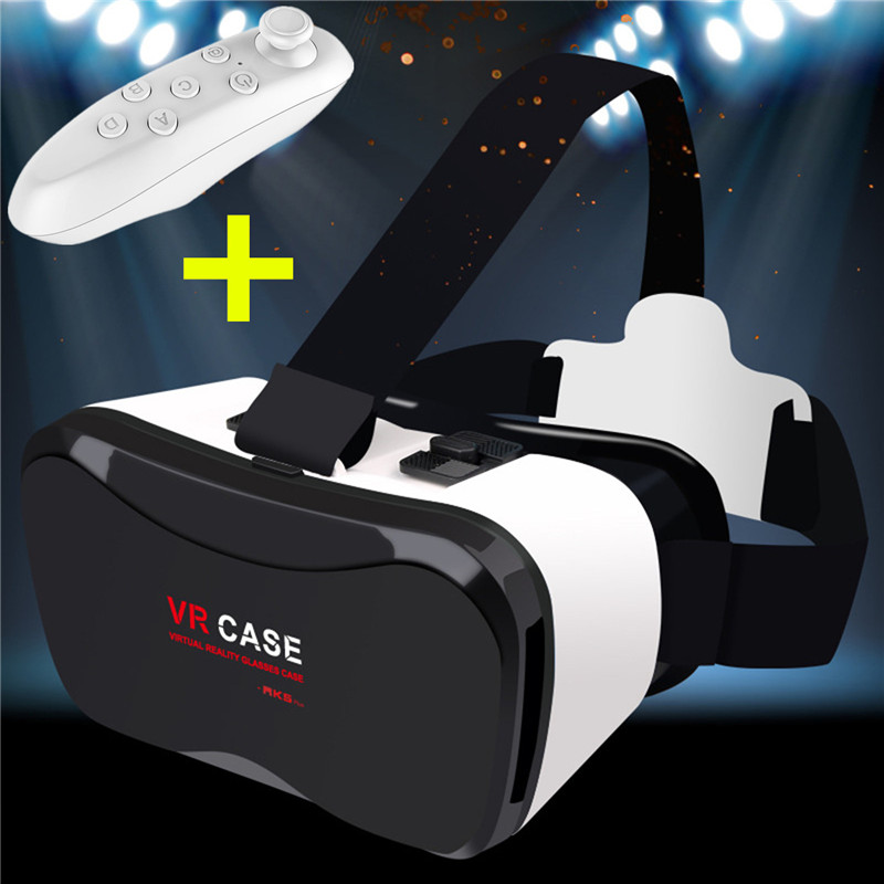 VR Case 5 Plus+controller Virtual Reality Glasses for Iphone 8 Plus Note 8 Mate 10 Pro LG V30 360 Panoranic View 3D Game Play