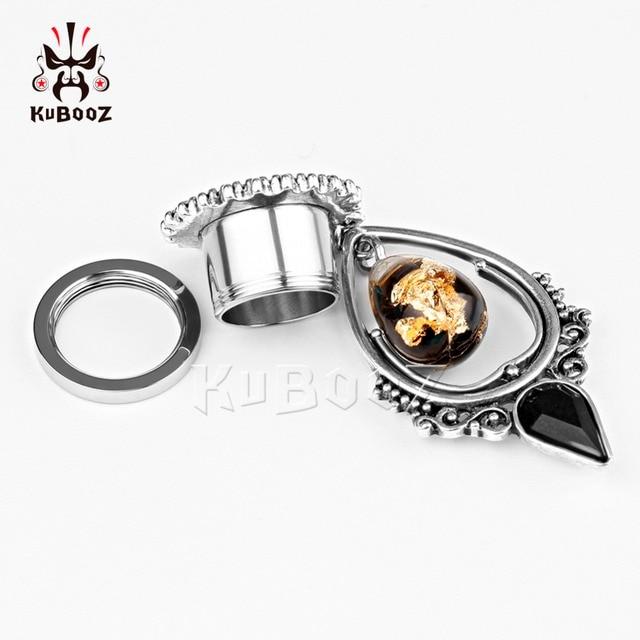 Купить kubooz пирсинг в уши туннели висячие серьги из нержавеющей стали