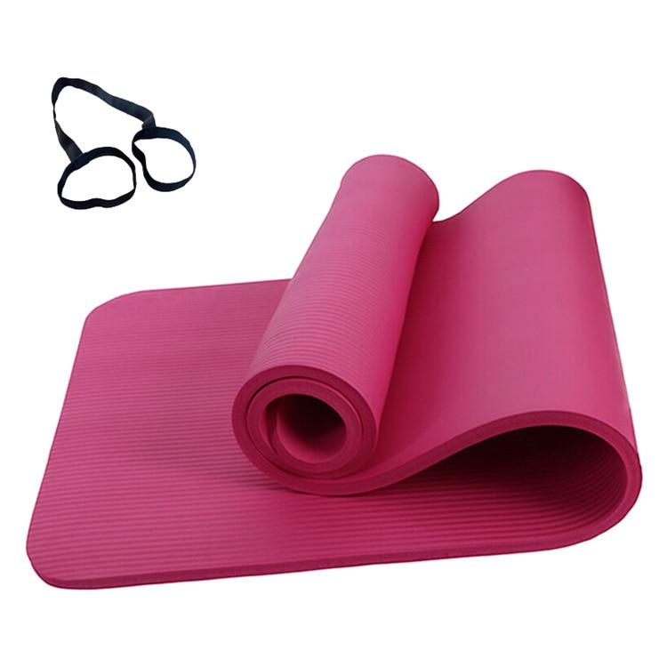 @1  183 x 60 x 1 см Утолщенные нескользящие коврики для йоги Спортивный тренажерный зал Мягкий пилатес С ①