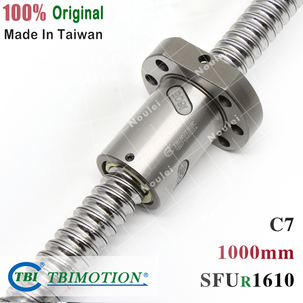 TBI 1610 C7 1000mm ballscrew 10mm lead screw for cnc with SFU1610 SFS1610 ballnutTBI 1610 C7 1000mm ballscrew 10mm lead screw for cnc with SFU1610 SFS1610 ballnut