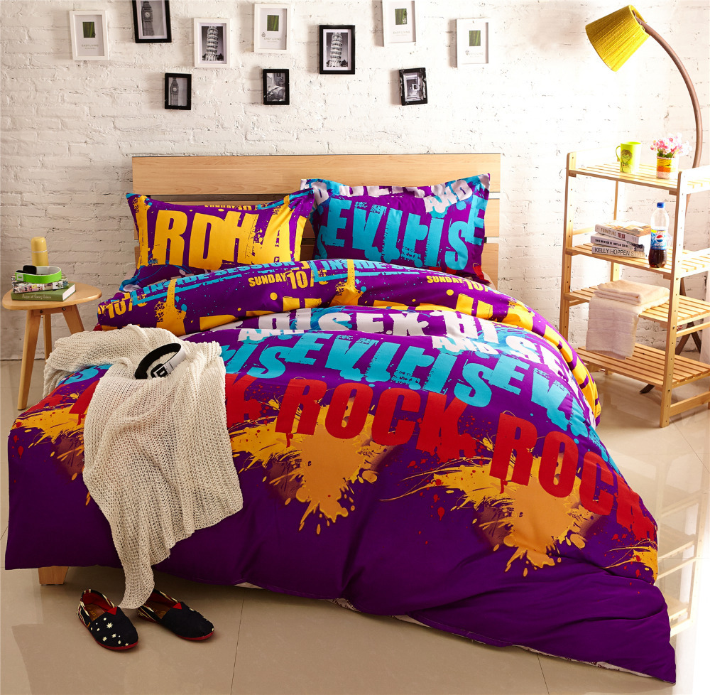 Purple Comforter Sets Cool Bed Linen Teen Bedding Sets Cheap Bed Sheets  Holiday Comforters And Quilts Quality Bedding In Bedding Sets From Home U0026  Garden On ...