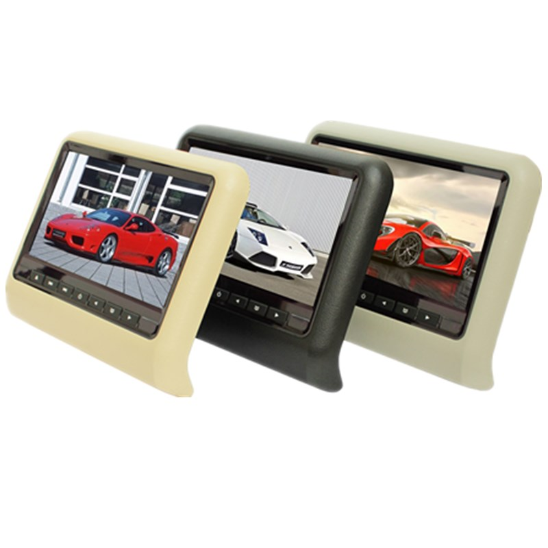 9 inch TFT LED Screen Headrest monitor Car DVD Player & Game DVD USB SD IR Transmitter Portable Headrest Monitor SH9808DVD 2 x 9 inch digital display screen headrest dvd player beige car headrest video player support usb sd ir fm transmitter remote