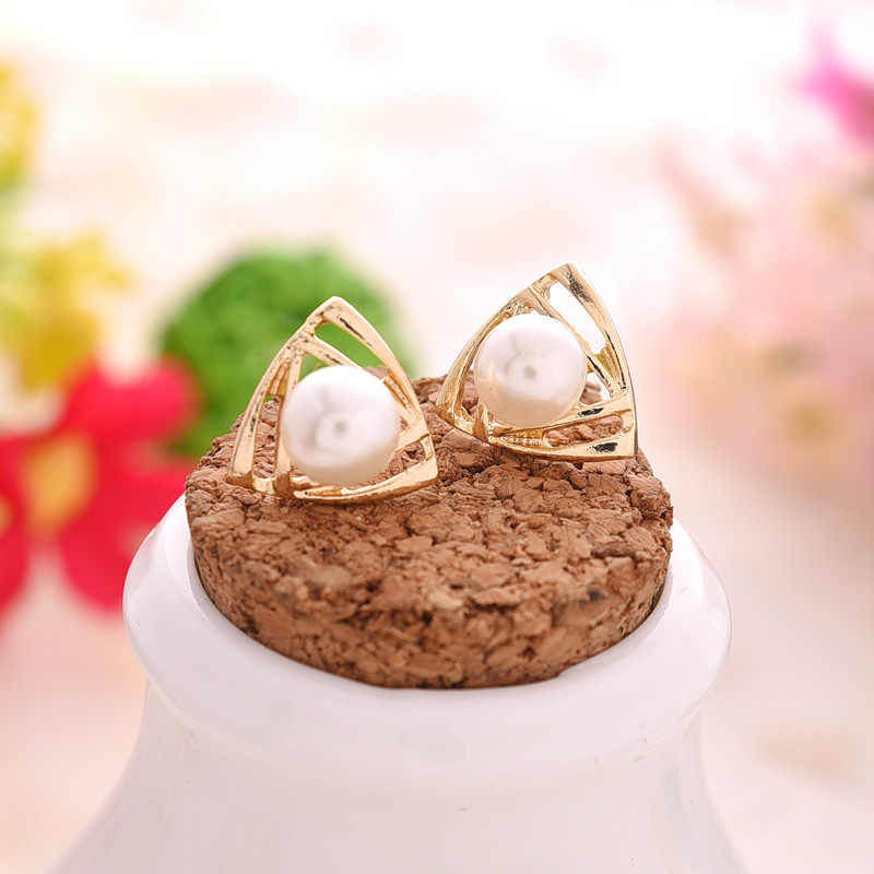 הנמכר ביותר Wild אופנה פשוט פרל שעועית עגילי סגנון נשים בנות עגילי תכשיטים סיטונאי קריסטל עגילי Brincos