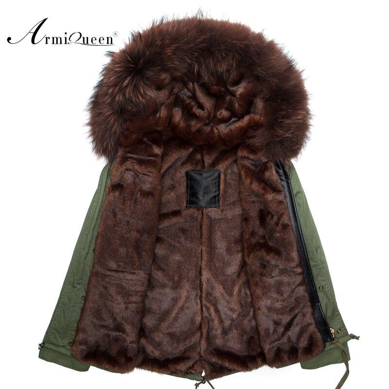 New Real man Genuine real Rabbit Fur short With Raccoon Fur Winter Fur Jacket eastern fur