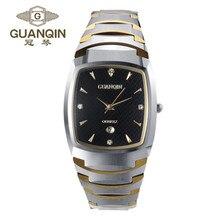 Original de la Marca de Lujo GUANQIN Hombres Reloj de Cuarzo Reloj Resistente Al Agua Reloj de Los Hombres 2016 Hombre Relojes de Lujo Relogio masculino reloj