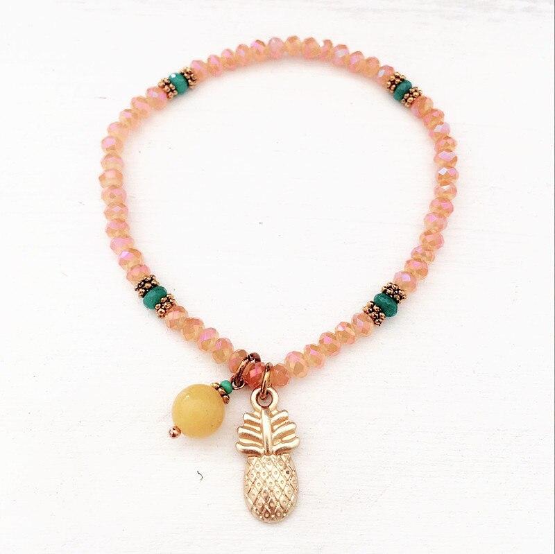 Dongmu jewellery ladies summer crystal jewelry colorful beads bracelet adjustable holiday bracelet DIY jewelry friendship gift
