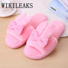 Winter Fur Sandals Women Shoes Designer Version Slides Woman pantoufle Home Slippers Famous Brand Fur Slippers Rabbit Ears mules