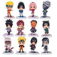 12 pçs/set Edição Q Sasuke Naruto Action Figure Estatueta Anime 7cm PVC Boneca Modelo Coleção Crianças Brinquedos Do Bebê Crianças