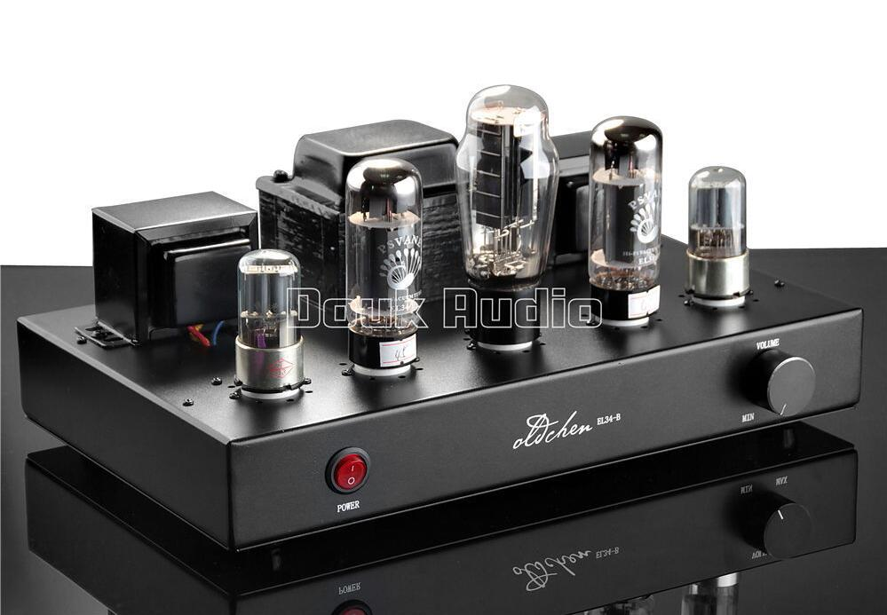 2017 New AIQIN 6N9P Push EL34 Pure Handmade Scaffolding Hi-Fi Stereo Tube Amplifier Power AMP Finished Product 110~240V Black music hall pure handmade hi fi psvane 300b tube amplifier audio stereo dual channel single ended amp 8w 2 finished product