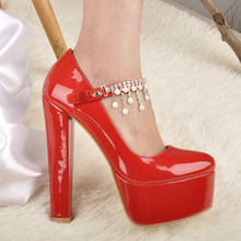 Ankle Strap thick 16cm High Heels