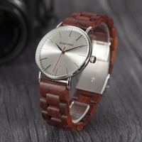 BOBO BIRD O15 Metal Case With Wooden Fold Strap Quartz Watches