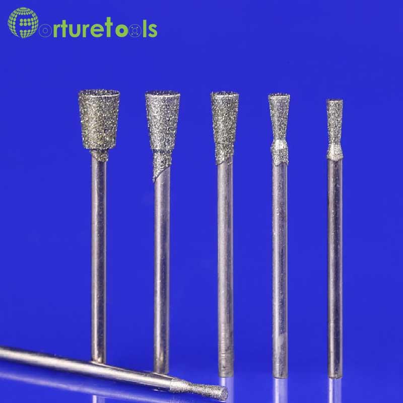50 pz diamante montato punto dremel rotante montato ruote utensili - Utensili abrasivi - Fotografia 2