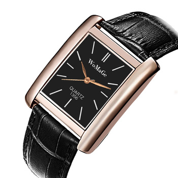 Rose Gold Rectangle Women Watches Luxury Brand Womage Wrist Watches for women Girl Fashion Quartz Watch Unisex Clock Reloj Mujer womage origin luxury brand unisex watches rose gold case watch wrist relogios quartz women dress wristwatches day date clock