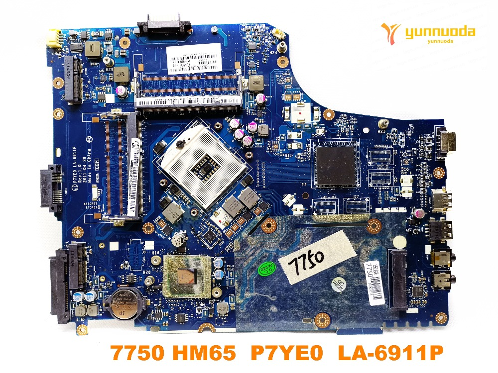 Original for <font><b>acer</b></font> 7750 laptop <font><b>motherboard</b></font> 7750 HM65 P7YE0 LA-6911P tested good free shipping image