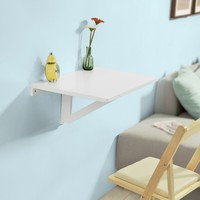 SoBuy FWT03 Folding Wall mounted Drop leaf Table, Computer Desk Children Desk, Kitchen Dining Table
