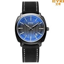 Бренда 30 м Водонепроницаемый Известная Марка Человек Часы 2016 Люксовый Бренд голубой Стекло Зеркало Случайные Часы календарь Кварцевые часы