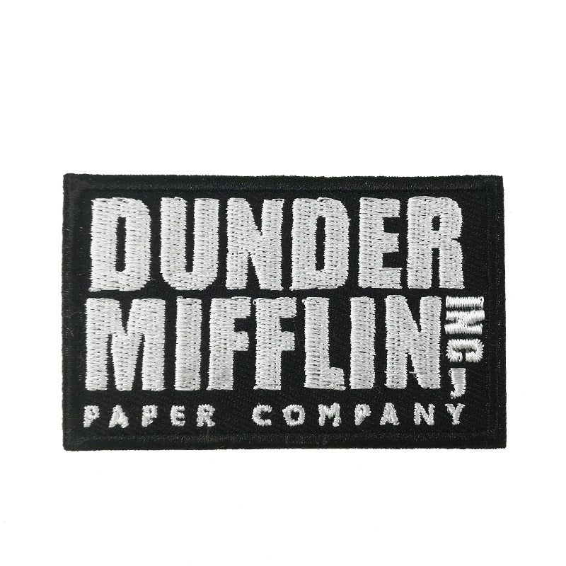Dunder Mifflin Inc The Office TV Show Moive EMBROIDERED IRON On Patch T shirt Transfer goth