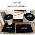 4 pçs/set conjunto personalizado tampa de assento wc wc banheiro definir marca tampa tapete de banho titular tampa tampa de assento do Vaso Sanitário almofada closestool RF-01