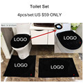 4pcs/set bathroom set brand toilet set cover custom wc seat cover bath mat holder closestool lid cover Toilet seat cushion RF-01