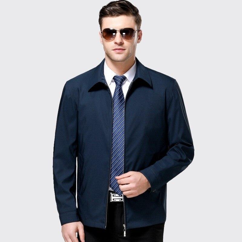 Ropa De Hombre 2019 Jaqueta Masculina Herren Frühling Herbst Jacke Herren Windjacken Zip Jacken Für Männer Jacken Und Mäntel Blau 3XL - 2
