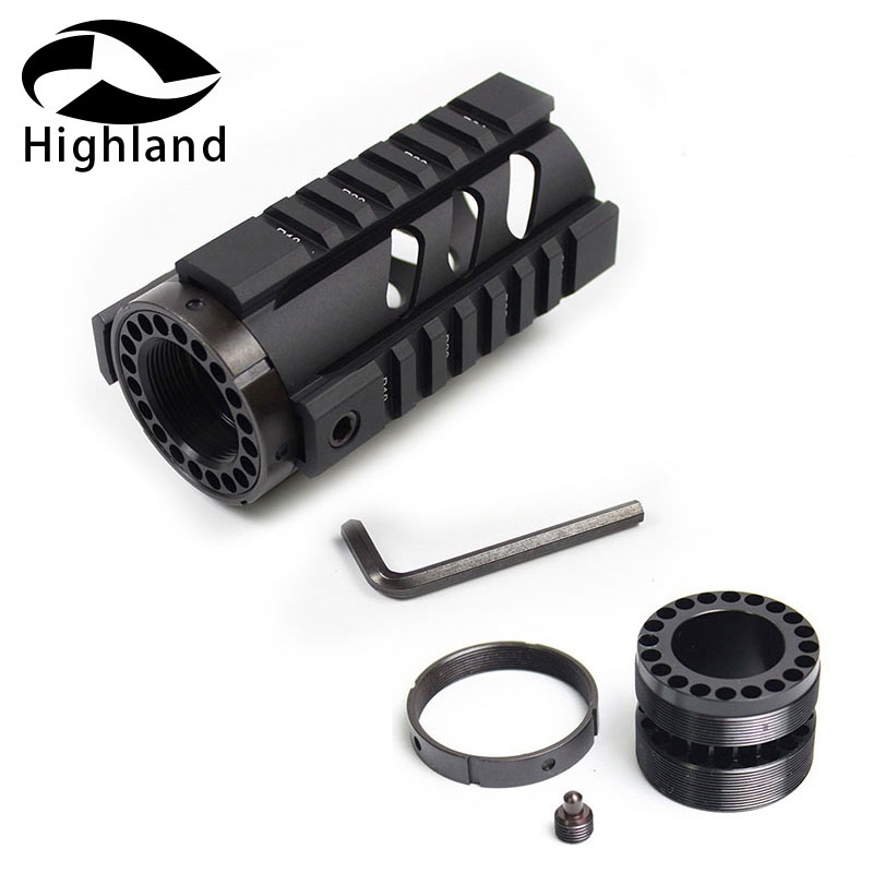 4 Inch Tactical Rifle Scope M4 AR-15 Free Float Keymod Handguard Picatinny Quad Rail w/Front Cap Mount image