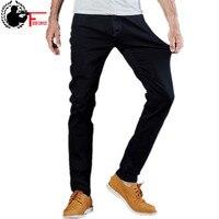 Men's Jeans Black High Stretch Denim Brand Men Jeans Size 30 32 34 35 36 38 40 42 Pants Trousers male fashion slim fit