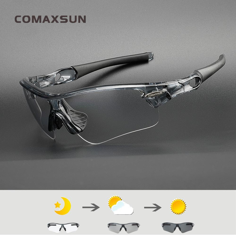 COMAXSUN Photochromic Cycling Glasses Discoloration Glasses MTB Road Bike Sport Sunglasses Bike Eyewear UV400 Bicycle Goggles 18